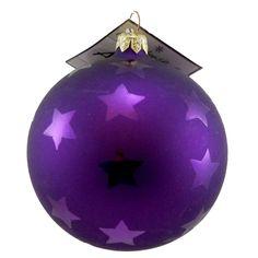 Christopher Radko 4 Inch Stars Purple Glass Ornament