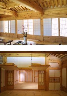 Asian Interior Design, Bamboo Design, Asian Home Decor, Architecture Old, Facade Design, Traditional House, New Homes, Korean Art, Houses