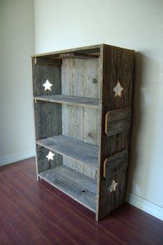 Wood Bookcase Farm House Bookcase Shelf Cottage by TRUECONNECTION, $430.00