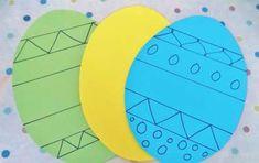 Lavoretti di Pasqua per bambini dell'asilo nido - Uova di carta