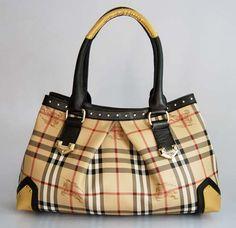Burberry Bag - Black and Yellow