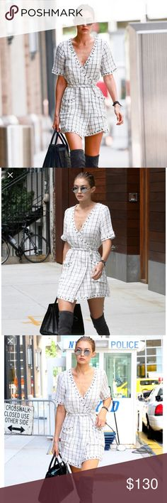 Tularosa Rocky Dress in Natural As seen on Gigi Hadid. Perfect for fall with thigh highs, New without tags, size small. Retails for $168 currently and sold out in small on Revolve. Tularosa Dresses Mini