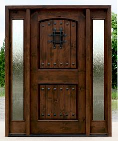 Superbe Rustic Speakeasy Front Entry Door With Rain Glass! Enxterior Door With Rain  Glass Sidelights For Sale Here