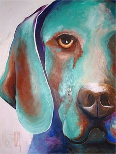 Abstract Dog Paintings #OilPaintingDog
