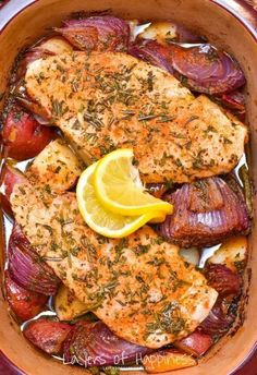 http://layersofhappiness.com/herby-roasted-chicken-vegetables-bake/