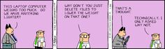 Why not? - The Dilbert Strip for January 30, 1995