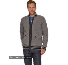 Men Barbour Delaney Zip Thru Jumper at www.eastreetstyle.com #Barbour Jackets Sale