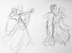 57 Ideas For Dancing Couple Sketch Beautiful - Dessin - Couple Dancing Sketch, Dancing Drawings, Art Drawings Sketches, Cute Drawings, Sketch Art, Drawing Base, Figure Drawing, Drawing Step, Character Drawing