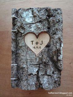 pretty cool looking.. Tree Bark Valentine's Heart Coptic Journal Book.