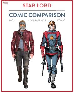 """3,660 Likes, 25 Comments - • Accurate.MCU • mcu fanpage (@accurate.mcu) on Instagram: """"• STAR LORD - COMIC COMPARISON • Star lords MCU costume became more iconic as his comic one. I…"""""""