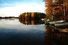 Free Image on Pixabay - Lake, Bay, Boats, Island, Forest Bay Boats, Fall Background, Fall Wallpaper, Boat Dock, Peaceful Places, Fall Photos, Fall Images, Plein Air, Fall Season