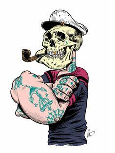 Tattoo&Skull by Marco Calcinaro, via Behance