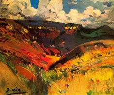 The Athenaeum - Paisaje (Joaquin Mir Trinxet Spanish Painters, Spanish Artists, Classic Paintings, Great Paintings, Abstract Landscape, Landscape Paintings, Famous Art Pieces, Expressionist Artists, Expressionism