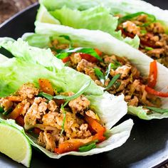 1 lb ground chicken 1 tbsp olive oil 2 tbsp red curry paste 1 tbsp ginger, minced 4 cloves garlic, minced 1 red bell pepper, sliced thinly 4 green onions, chopped 1 cup shredded cabbage or coleslaw mix ¼ cup hoisin sauce salt and pepper to taste 5 basil leaves,…