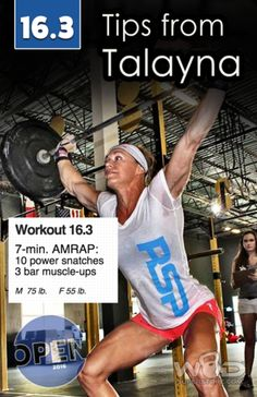 Talayna's Tips and Strategy 2016 Crossfit Games Open Crossfit Open Workouts, Fit Board Workouts, Fun Workouts, Crossfit Exercises, Fitness Workouts, Gymnastics Backgrounds, Fitness Diet, Fitness Motivation, Muscle Up