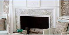 herringbone tile fireplace surrounds - Google Search