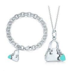 Tiffany Sets Handbag Charm Pendant & Bracelet Sets