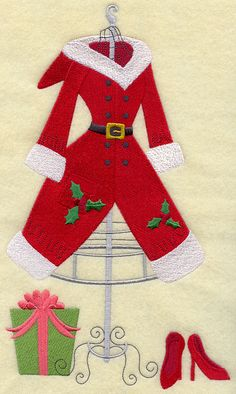 Mrs. Claus Dress Form and Heels