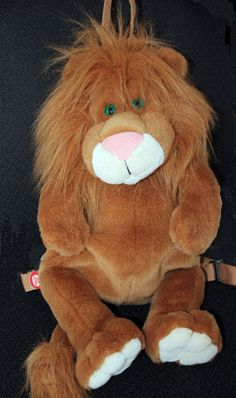 Lion Plush Backpack Purse Bag Knapsack Animated Eyes Vocal Roar See Video Rare Animal Backpacks, See Videos, Backpack Purse, Lion, Plush, Teddy Bear, Animation, Purses, Eyes