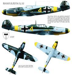 Messerschmitt Bf 109F4 9.JG3 (Y4+I) Eberhard von Boremski WNr 13220 Zhuguyev Russia May 1942 0C