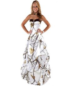 Cheap prom dresses, Buy Quality camo prom dress directly from China prom dresses prom Suppliers: realtree formal snow white camo prom dress 2018 long robe longue women maxi camouflage party gowns White Camo Wedding Dress, Camouflage Wedding Dresses, Camo Wedding Dresses, Camo Dress, Wedding Attire, Camouflage Party, Prom Dress 2014, Homecoming Dresses, Strapless Dress Formal