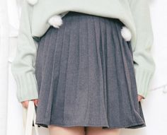 Pleated Big Lap Half-Body Skirt