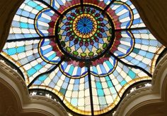 Beautiful stained glass ceiling in Iparművészeti Múzeum (Museum of Applied Arts), Budapest, Hungary Baroque Architecture, Art Nouveau Architecture, Capital Of Hungary, Buda Castle, Hungary Travel, Europe Continent, Cities In Europe, Most Beautiful Cities, Budapest Hungary