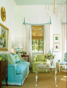 Turquoise living room design - possibility!
