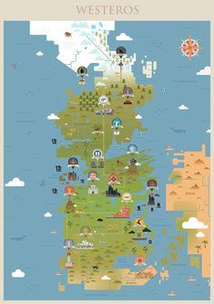 Una mappa di Westeros per non smarrire la via verso il Noooooooooord!!!!!