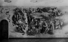 KRO Studio - Wandschildering van Charles Eyck in de hal