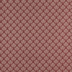 D312 Burgundy And Beige Fan Jacquard Woven Upholstery Fabric By The Yard