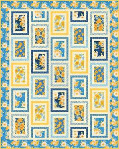 Gardenside Path - Snapshot Featuring the Gardenside Path fabric collection Robert Kaufman Fabrics. Pattern Design, Free Pattern, Quilting Projects, Quilting Ideas, Sunflower Quilts, Yellow Quartz, Garden Items, Panel Quilts, Robert Kaufman