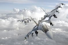 Russia Sukhoi Flanker-E Fighter Jet - 2 Sukhoi Su 35, Military Jets, Military Weapons, Military Aircraft, Military Force, Air Fighter, Fighter Jets, Russian Plane, Boats