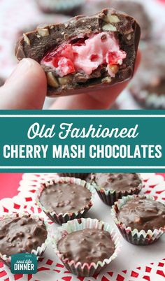 Old Fashioned Cherry Mash Chocolates - Real Life Dinner - Just like the old fashioned candy bars, Cherry Mash and Big Cherry. A must make for all Cherry Lover - Cherry Mash Candy Recipe, Cherry Candy, Old Fashioned Cherries, Old Fashioned Candy, Old Fashioned Christmas Candy, Old Fashioned Recipes, Köstliche Desserts, Delicious Desserts, Dessert Recipes
