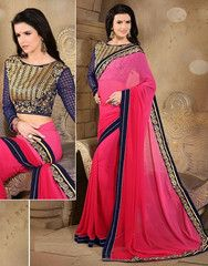 Pink Color Georgette Party Wear Sarees : Nimisha Collection  YF-41548