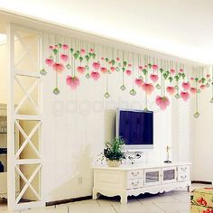 Hot Lotus Flower Pattern Room DIY Wall Sticker Art Decal Mural Home Decoration