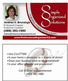 """Ready to get #organized? Call a Professional Organizer who does more than """"fiddle with files."""" SOS works with individuals and business owners and """"turns chaos into calm."""" TM"""