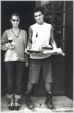 Kate Moss + Johnny Depp