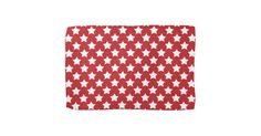 Bright Red and White Stars; Starry Pattern Hand Towels | Zazzle