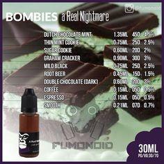 Bombies-A real Nightmare Diy Vape Juice, Vape Facts, E Juice Recipe, Graham Cracker, Strawberry Ice Cream Cake, Clone Recipe, Thin Mint Cookies, Thin Mints, Juice Recipes