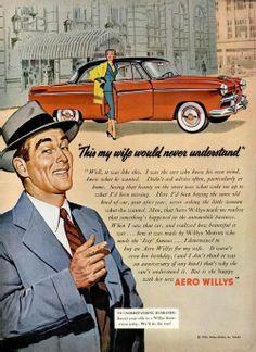 Anuncio de coches Aeor Willys de 1953.