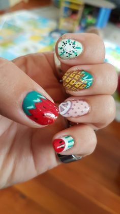 Fruit nail art for summer !