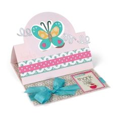 Thank You Butterfly Card How do you say thanks? Start by designing a very special creation with the Stephanie Barnard collection. These die-cut or stamped shapes will add a creative flair to almost anything, including amazing cards like this!