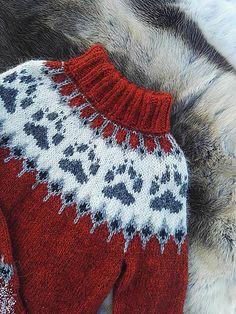 Ravelry: Villmarksgenseren (The Wilderness Sweater) pattern by Linka Karoline Neumann Sweater Knitting Patterns, Knit Patterns, Baby Knitting, Icelandic Sweaters, Dog Pattern, Fair Isle Knitting, Knit Picks, Christmas Knitting, Knitting Projects