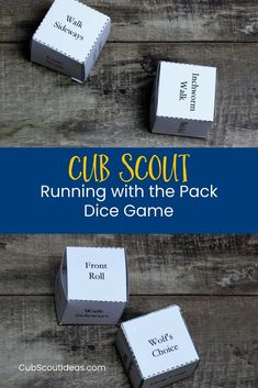 Cub Scout Wolf Adventure Running with the Pack Dice Game via @CubIdeas