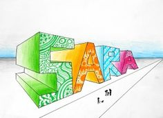 My name in 2-point perspective | Arte a Scuola | Bloglovin'
