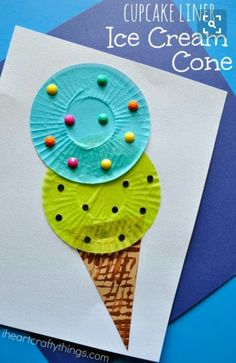 ice cream cupcake liner