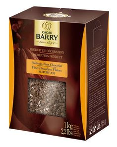 Cacao Barry Cocoa B Chocolate Flakes, Paillete, 2.2 Lb (P...