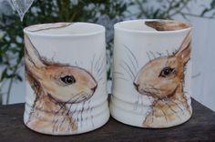valentine love hare mugs £35.00 - adorable!