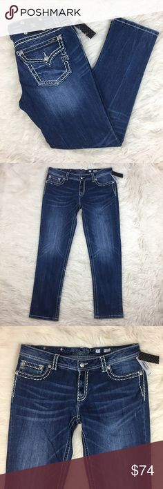 "Miss Me Women's Jeans NWT Miss Me women's jeans in size 33.  Approximate Measurements Laying Flat  Waist- 17 1/2""  Rise- 9""  Inseam- 30 1/2"".                                         Reasonable offers considered Miss Me Jeans Skinny"